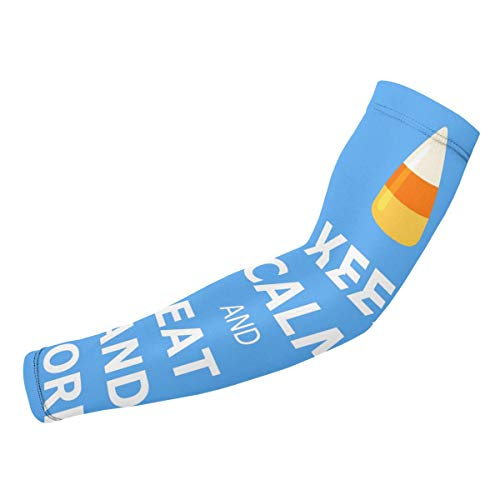 DSFGG Cooling Arm Sleeve, EAT Candy Corn Sun Protection, Compression Warmers to Cover Tattoo, Unisex