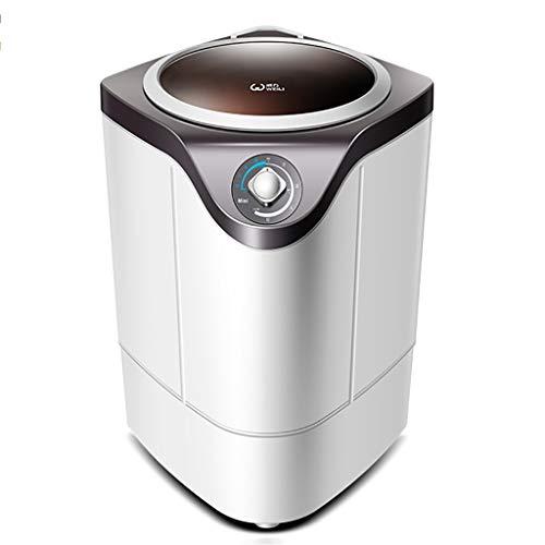 Lavadoras Mini semiautomática portátil con lámpara germicida Violeta incorporada - 4.8 kg de Gran Capacidad, Ahorro de Agua y Ahorro de energía, sincronización de perillas,