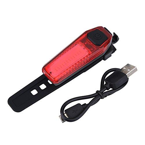NCONCO LED Fahrrad Rücklicht USB Wiederaufladbare Fahrrad Rücksattelampe Heck Sicherheitswarnung Rotlicht Nachtfahrzubehör