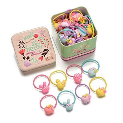 Cintas Bandas para el Pelo de Bebés Niña, Gomas del pelo, Multicolor, 40 piezas (C)