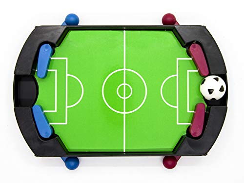 GeekGoodies Plastic Tabletop Football Finger Foosball Game Kids Adults Table Soccer Mini Interactive Toy Kicker Gift Boxed Table Office Home Indoor Game
