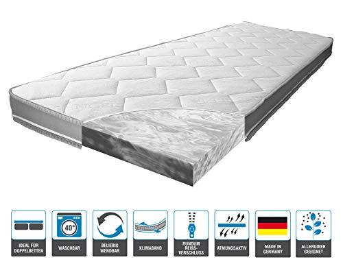 ARBD Matratzenauflage - Topper   Modelle mit 7-12cm Gesamthöhe   waschbarer Bezug mit 3D-Mesh-Klimaband (H3 XL - 10cm, 180 x 200 cm)