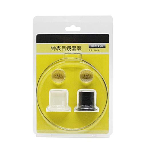 GFCGFGDRG 5X 10X Orologio Gioiello Magnifier di Riparazione degli Orologi Kit in Resina della Lente di ingrandimento degli Occhi Lente oculare Kit Repair Tool
