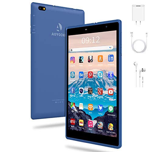 Tablet 8 Inch 3GB RAM+32GB/128GB ROM Extensible Quad Core, IPS HD Display, Android 10.0 Certified by Google GMS, 5000mAh Battery, Kids Tablet, FM, Bluetooth,Wi-Fi