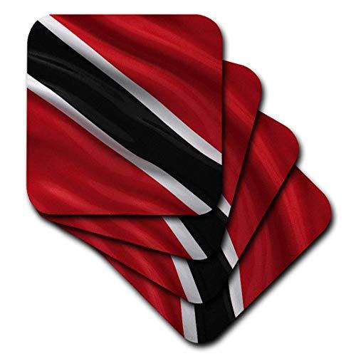 3dRose-Flagge von Trinidad & Tobago winkt im Wind – weiche Untersetzer, 8 Stück (CST_174734_2)