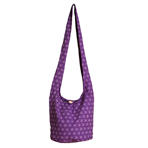 PANASIAM Schultertaschen Asanoha Design in violete, L
