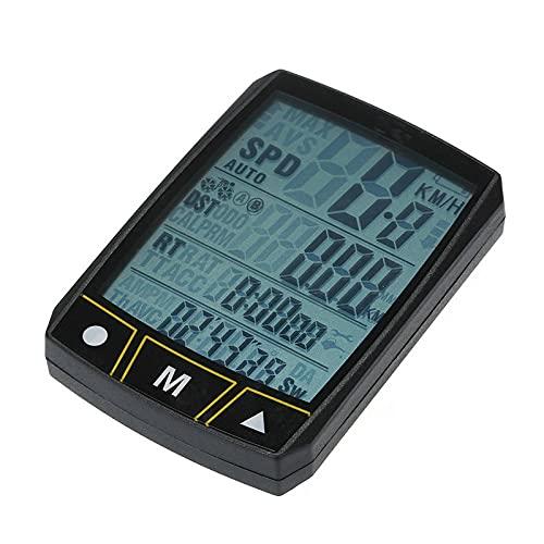 BESISOON Ordenador De Ciclismo con GPS Bicicleta Inalámbrica/por Cable Ciclismo Bicicleta Sensor De Cronómetro Impermeable con Exhibición LCD: Odómetro Multifunciónpara Exterior