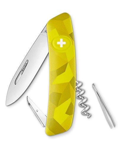 SWIZA Cuchillo suizo C01 Velor 6 funciones para adultos, amarillo, talla única