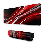 Black and Red Abstract Mobile Wallpaper 437 Amaz Gaming Laptop Mousepad 31.5x11.8 Inch Wide & Long Large Mouse Pad for Computer/Laptop