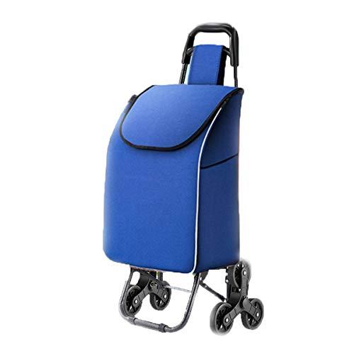 Z-SEAT Wasserdichter Einkaufswagen, mit leisem Dreirad-Treppensteigwagen Ultraleicht zusammenklappbarer Einkaufswagen Tragbare abnehmbare Tasche
