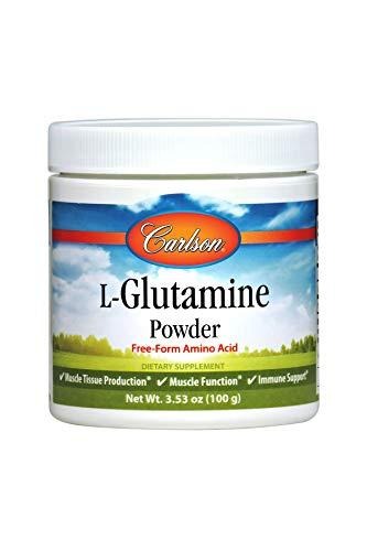 Carlson - L-Glutamine Powder, Free-Form Amino Acid, 3 g, Muscle Tissue Production & Function, Immune Support, 3.53 oz (100 g)
