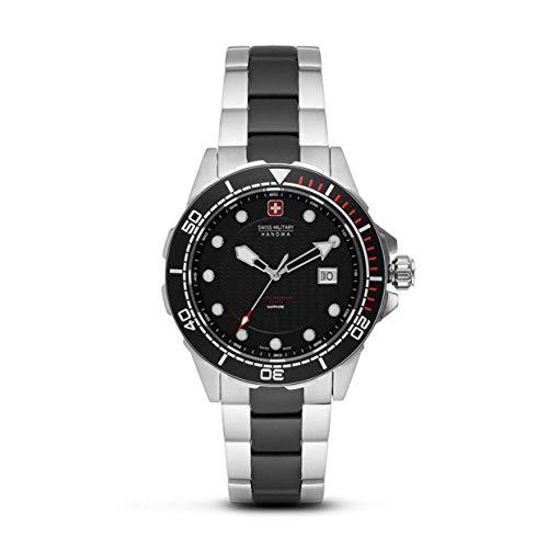 Swiss Military Hanowa Reloj Analógico para Unisex Adultos de Cuarzo con Correa en Acero Inoxidable 06-5315.33.007