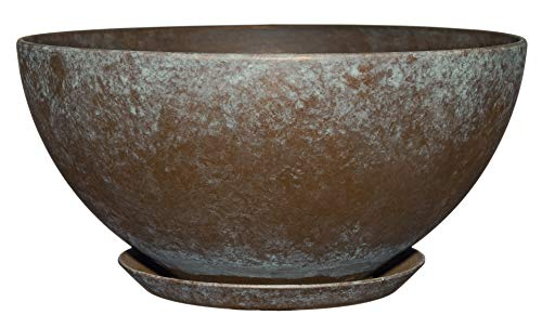 Classic Home and Garden 9010D-377R 10' Rosie Bowl Planter, Weathered Copper
