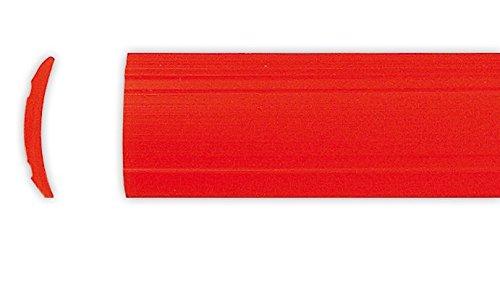 Leistenfüller uni rot Eriba 12mm breit