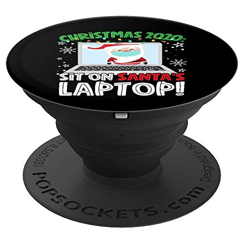 Christmas 2020: Sit On Santa's Laptop PopSockets Grip and Stand for Phones and Tablets
