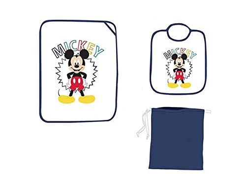 set asilo 3 pezzi bavaglino tovaglietta e sacchetto contenitore DISNEY/AVENGERS (Mickey) …
