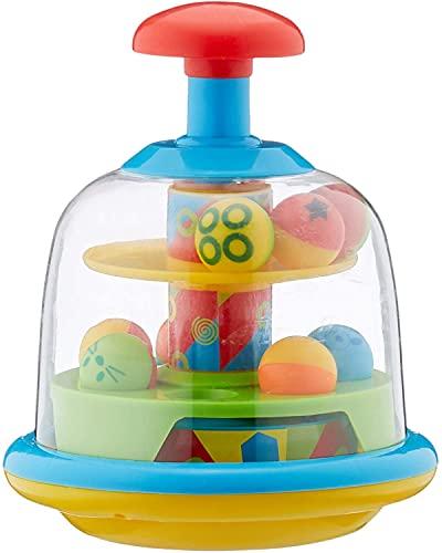 SRV Hub Spinning Popping Pals, coloridas bolas de spinning y popping Balls, juguete educativo y de actividad sensorial, +6 meses