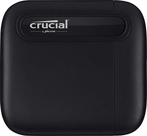 Crucial CT1000X6SSD9 X6 1TB Portable SSD – Bis zu 540MB/s – USB 3.2 – Externes Solid State Drive, USB-C
