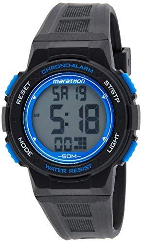 Timex Marathon TW5K84800, Reloj de Cuarzo, Unisex, con Pantalla Digital con Dial LCD y Correa de Resina, Negra