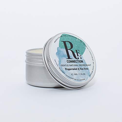 Herhaling | Zachte natuurlijke Deodorant | Aluminiumvrij | Natriumbicarbonaatvrij | Organische ingrediënten | Handgemaakt in Londen | 50g 50g