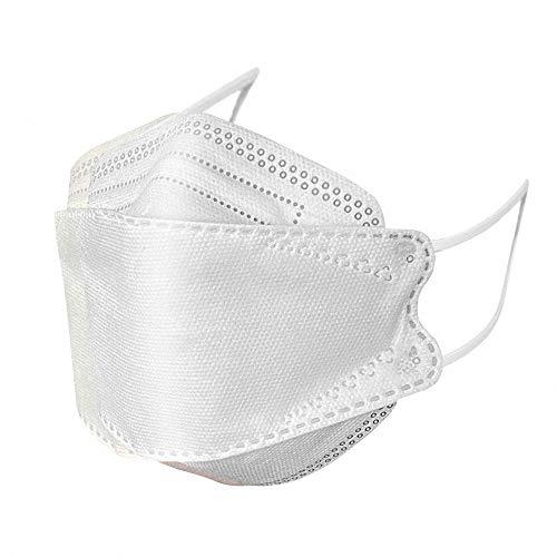 『HINCINK 20枚 個包装マスク 4層構造 不織布 通気性 超快適 立体型マスク 在庫あり (10, ホワイト)』のトップ画像