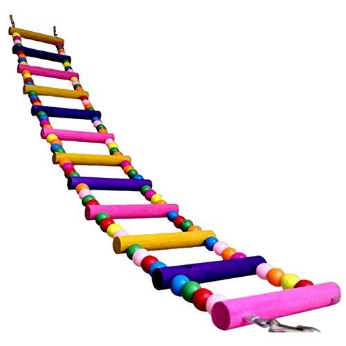 Komisch Swing Hölzern Maus Ratte Papagei Vogel Hamster Leiter Kriechen Brücke Spielzeug Regal Käfig Spaß (8 Leitern)