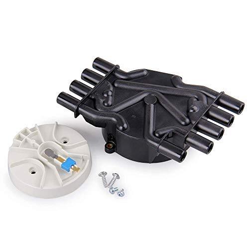 Big Autoparts Ignition Distributor Set Brass Terminals Distributor Cap and Rotor Kit compatible with Chevrolet GMC Cadillac Vortec V8 5.0l 5.7l 7.4l Compatible Part Number DR474 DR331