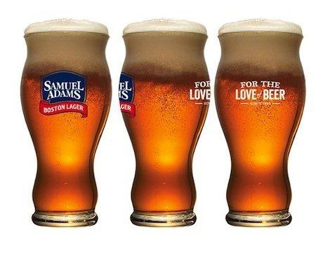 『Samuel Sam Adams Boston Lager Sensory パイントビールグラス 22オンス 4個セット』のトップ画像