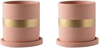 Gardening tool pot - a cylindrical flowerpot, Kikubotan cement flowerpot book room computer desk plant container multi-color optional bed head plant decorative container flower
