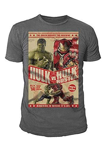 Marvel Comics Hulk - Camiseta para hombre (tallas S-XL), diseño de Hulkbuster gris S