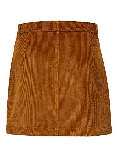 Only Onlamazing HW Corduroy Skirt Pnt Noos Falda, Marrón (Rustic Brown Rustic Brown), 40 (Talla del Fabricante: Medium) para Mujer