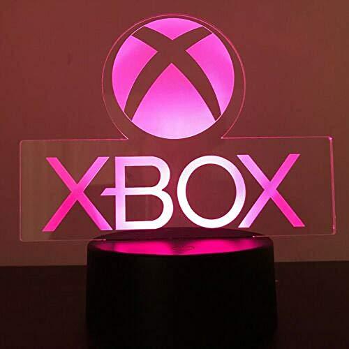 Xbox Gamer Games Logo 3D Acryl Led 7 Farben Nachtlicht Tischlampe Geschenk Touch Schalter