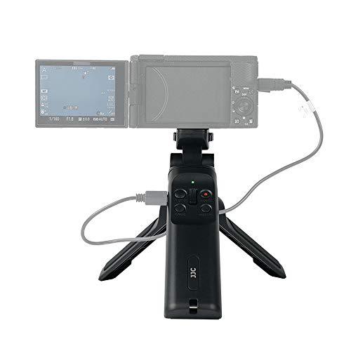 JJC Fernschieß-Stativ Griff Commander für Selfies Vlogging kompatibel mit Kamera mit Mult-Terminal z.B. ZV-1 RX100VII AX33 CX380 A6600 A6500 etc. ersetzt Sony GP-VPT1 Handgriff