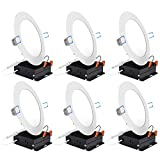 Sunco Lighting 6 Pack 6 Inch Slim LED Downlight with Junction Box, 14W=100W, 850 LM, Dimmable, 4000K Cool White, Recessed Jbox Fixture, Simple Retrofit Installation - ETL & Energy Star