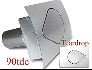 Hagan Street Rods 90TDC Teardrop Fuel Door with Curved Surface