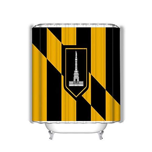 N\A Strand Duschvorhang Flagge Baltimore ai Verfügbar rote Schwarze Flagge Baltimore Stoff Badezimmer Dekor