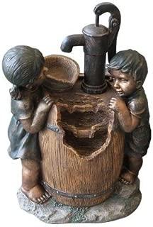 Kids on Water Pump Fountain