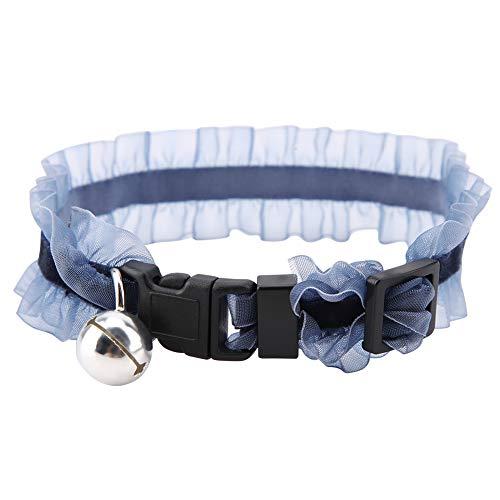 Cuello De Gato De Perro Suave con Hebilla Color De Perrito con Campana para Pequeños Tamaño De Tamaño Negro XS