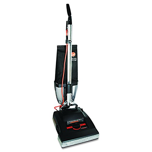 Hoover Commercial C1800-010 Conquest Bagless Upright Vacuum with 14' Cleaning Path