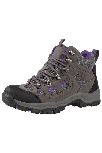 Mountain Warehouse Botas Adventurer para mujer - Botas de agua impermeables, zapatillas altas de tejido y material sintético para caminar, zapatillas de verano Gris 39