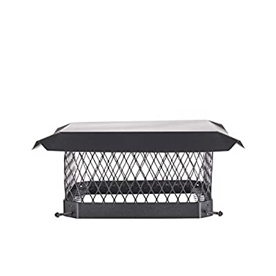 "Shelter SC1313 Galvanized Steel Chimney Cap, Fits Outside Tile, 13"" x 13"""