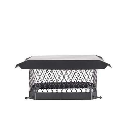 "Shelter SC1313 Galvanized Steel Chimney Cap, Fits Outside Tile, 13"" x 13"""
