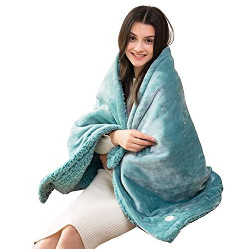 LIANG Franela Manta Manta de calefacción eléctrica rápida climatizada banda con 9 Engranajes de control de temperatura, caliente Home Office Sofá cama Uso 150 × 80 cm (59 x 31inch) puede lavar a máqui