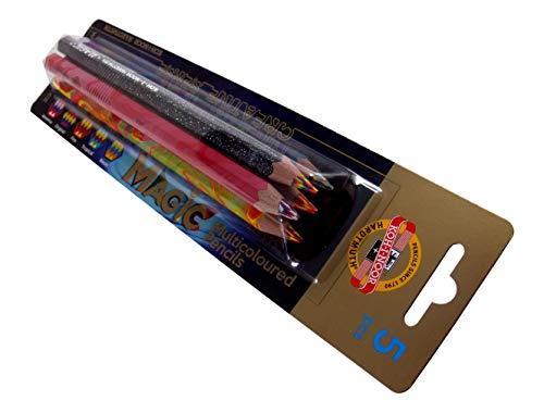 KOH-I-NOOR 'MAGIC' 3406 Jumbo Special Buntstifte im bunten Design, Mehrfarbig, Blisterpackung