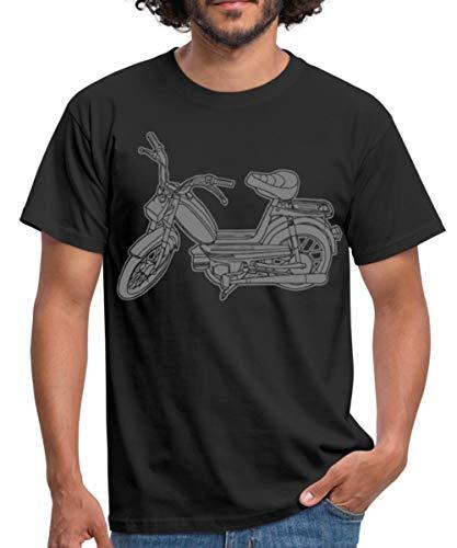 Mofa Roller Moped Motor-Fahrrad Männer T-Shirt, S, Schwarz