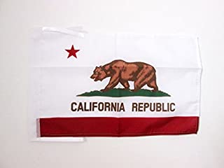 AZ FLAG Bandera de California 45x30cm - BANDERINA Americana DE California - EE.UU 30 x 45 cm cordeles