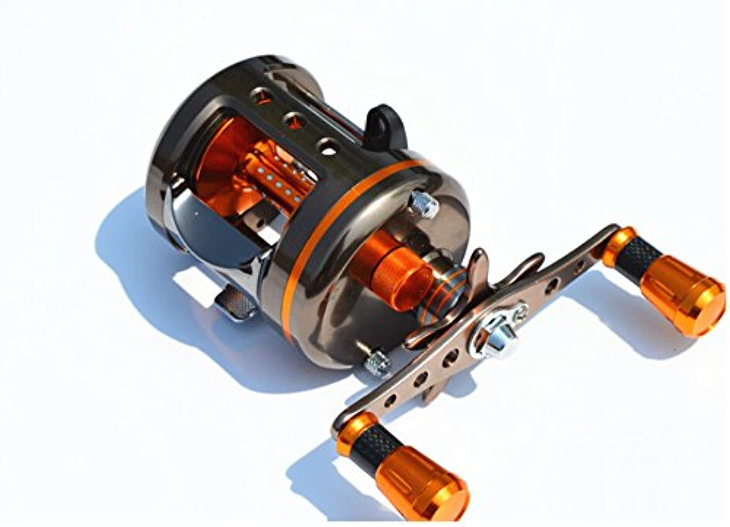 MingYang GS5000 One piece aerospace aluminum solderless Fishing baitcasting reel 8 BB Right Handed fishing tackle GR 5.1:1