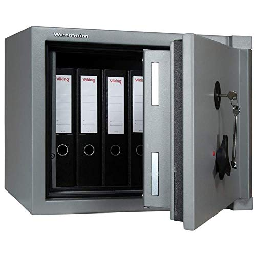 Wertheim Wertschutzschrank AP10, Mechanisches Zahlenkombinationsschloss La Gard 3390 VZ, Grad 1 nach EN 1143-1, 30 Minuten Brandschutz, H47.4xB60.5xT52.2 cm, 180 kg
