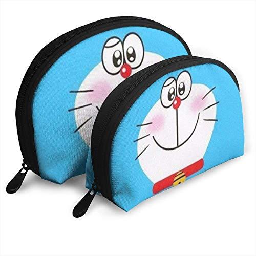 Doraemon Sac de Maquillage Sacs de Voyage Petit Sac de Coquille Pochette de Toilette Portable Pochette 2pcs