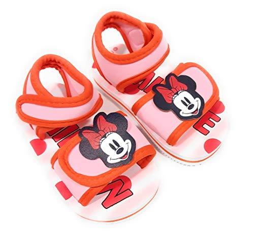 Minnie Mouse Sandalen für Strand oder Pool – Sandalen für Mädchen, - rot und rosa - Größe: 24 EU